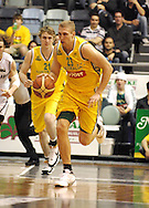 Shawn Redhage (Australia) in action during the Ramsay Shield, Australia Post Boomers v New Zealand, Game 2, 2008.  Played at the State Netball & Hockey Centre. Australian Post Boomers defeated New Zealand. .Photo: Joel Strickland / SMP Images.Use information: This image is intended for Editorial use only (e.g. news or commentary, print or electronic). Any commercial or promotional use requires additional clearance.
