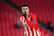 Joel Piroe of PSV Eindhoven celebrates after scoring his sides fourth goal during the UEFA Europa League, Group E football match between PSV and Omonia Nicosia on December 10, 2020 at Philips Stadion in Eindhoven, Netherlands - Photo Perry vd Leuvert / Orange Pictures / ProSportsImages / DPPI