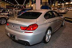 CHARLOTTE, NORTH CAROLINA - NOVEMBER 20, 2014: BMW 640i Gran Coupe on display during the 2014 Charlotte International Auto Show at the Charlotte Convention Center.
