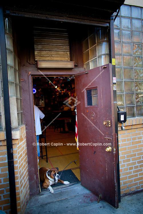 Polonia Democratic Club Inc. & Ladies Auxiliary Members Only Club on Grand Streets in Williamsburg, Brooklyn. ..Photo by Robert Caplin.