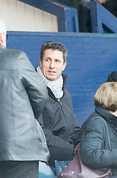John Collins in the stand. Raith Rovers 1 v 1 Hibernian, Scottish Championship game played 18/2/2017 at Starks Park.