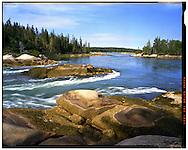 Vinalhaven, ME 08/15/2014<br /> Water rushes out of The Basin on a falling tide.<br /> f/16, 30 second expsoure on Kodak Ektar film.<br /> Alex Jones / www.alexjonesphoto.com