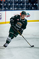 KELOWNA, BC - FEBRUARY 28: Michal Gut #62 of the Everett Silvertips warms up on the ice against the Kelowna Rockets at Prospera Place on February 28, 2020 in Kelowna, Canada. (Photo by Marissa Baecker/Shoot the Breeze)