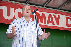 Man speaking into microphone at TUC event,