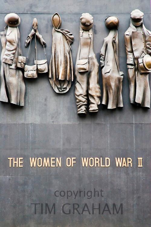 The Women of World War II memorial in Whitehall, London, United Kingdom