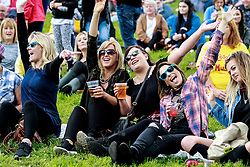 Pictured:  revelers enjoy the party atmosphere at Party at the Palace in Linlithgow close to historic Linlithgow Palace . Andrew West/ EEm