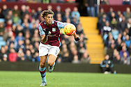Rudy Gestede of Aston Villa in action.Barclays Premier league match, Aston Villa v Swansea city at Villa Park in Birmingham, the Midlands on Saturday 24th October 2015.<br /> pic by  Andrew Orchard, Andrew Orchard sports photography.