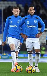 Everton's Wayne Rooney and Everton's Theo Walcott
