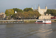 The Tower of London and River Thames, London, England