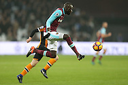 Cheikhou Kouyate of West Ham United in action. Premier league match, West Ham Utd v Hull city at the London Stadium, Queen Elizabeth Olympic Park in London on Saturday 17th December 2016.<br /> pic by John Patrick Fletcher, Andrew Orchard sports photography.