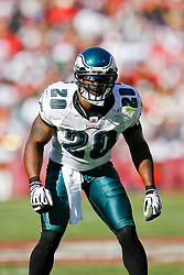 12 Oct 2008: Philadelphia Eagles FS Brian Dawkins #20 during the game against the San Francisco 49ers on October 12th, 2008. The Eagles won 40-26 at Candlestick Park in San Francisco, California. (Photo by Brian Garfinkel) (Photo by Brian Garfinkel)