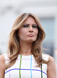 First Lady Melania Trump attends the Congressional Picnic on the South Lawn of the White House in Washington, DC, on June 22, 2017. Photo by Olivier Douliery/ Abaca