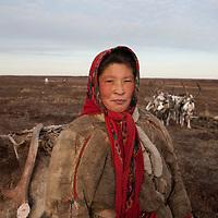 Sept 2009 Yamal Peninsula, Siberia, Russia - global warming impacts story on the Nenet people , reindeer herders in the Yamal Peninsula - Tonia Vonuta