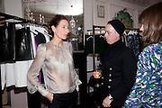 SARAH MURRAY; JAMES BROWN, Hamlton-Paris host a trunk show for Autumn/Wnter 2010. The Connaught. Carlos Place. Mayfair. London W1. 23 March 2010.