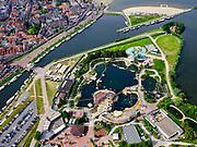 Nederland, Gelderland, Harderwijk, 21–06-2020; centrum van Harderwijk met Dolfinarium.<br /> Center of Harderwijk with Dolfinarium.<br /> <br /> luchtfoto (toeslag op standaard tarieven);<br /> aerial photo (additional fee required)<br /> copyright © 2020 foto/photo Siebe Swart