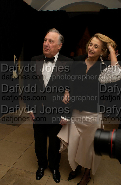 Sir Frederick and Lady Forsyth. Dinner to unveil the Van Cleef & Arpels jewellery collection 'Couture' with fashion by Anouska Hempel Couture. The Banqueting House, Whitehall Palace, London on 8th March 2005.ONE TIME USE ONLY - DO NOT ARCHIVE  © Copyright Photograph by Dafydd Jones 66 Stockwell Park Rd. London SW9 0DA Tel 020 7733 0108 www.dafjones.com