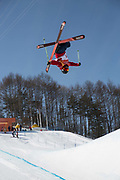 Murray Buchan, Great Britian, during ski halfpipe practice during the Pyeongchang Winter Olympics on 16th February 2018 at Phoenix Snow Park in South Korea
