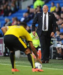 Cardiff City Manager, Russell Slade  - Mandatory by-line: Joe Meredith/JMP - 07966386802 - 28/07/2015 - SPORT - FOOTBALL - Cardiff,Wales - Cardiff City Stadium - Cardiff City v Watford - Pre-Season Friendly