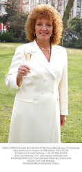 DAWN GIBBINS founder & chairman of the Flowcrete Group of Companies, at a photocall in London on 20th March 2003.PIG 30