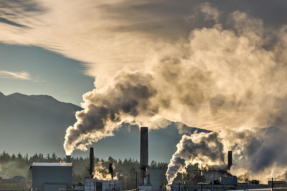 Nippon Paper Industries  Mill, November, Port of Port Angeles, North Olympic Peninsula, WA, USA