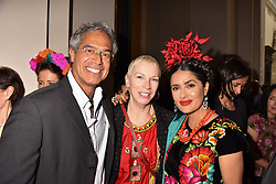 "Dr Mitch Besser, Annie Lennox and Salma Hayek at the opening of ""Frida Kahlo: Making Her Self Up"" Exhibition at the V&A Museum, London England. 13 June 2018."