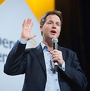© Licensed to London News Pictures. 14/03/2015. Liverpool, UK. Nick Clegg.  The Liberal Democrat Spring Conference in Liverpool 14th March 2015. Photo credit : Stephen Simpson/LNP