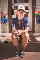 Rose Grant after her back to back Leaville 100 MTB win, Leadville, Colorado.