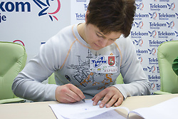 Martinka Ratej when Slovenian athletes and their coaches sign contracts with Athletic federation of Slovenia for year 2009,  in AZS, Ljubljana, Slovenia, on March 2, 2009. (Photo by Vid Ponikvar / Sportida)