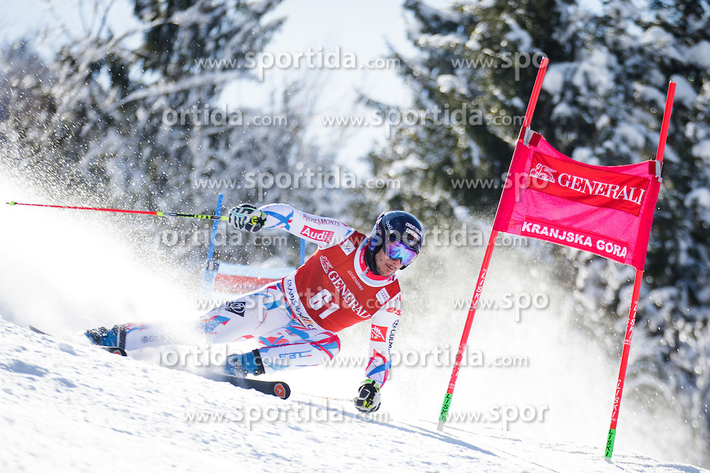 Francois Place (FRA) competes in 1st Run during Men Giant Slalom race of FIS Alpine Ski World Cup 55th Vitranc Cup 2015, on March 4, 2016 in Kranjska Gora, Slovenia. Photo by Ziga Zupan / Sportida