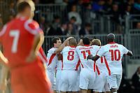Die Schweizer Spieler jubeln nach dem Tor zum 0:2 © Andy Mueller/EQ Images