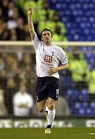 Photo: Olly Greenwood.<br />Tottenham Hotspur v Cardiff City. The FA Cup. 17/01/2007. Tottenham's Robbie Keane celebrates scoring