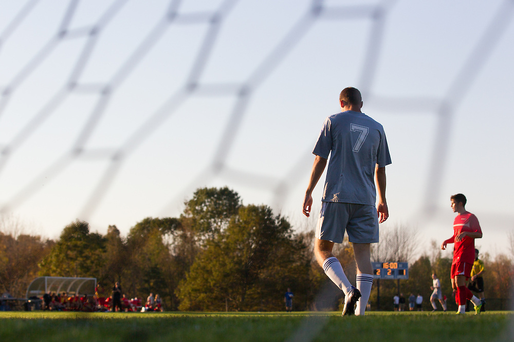 Matt Giron, of Colby College, in a NCAA Division III soccer game against Thomas College on October 2, 2013 in Waterville, ME. (Dustin Satloff/Colby College Athletics)