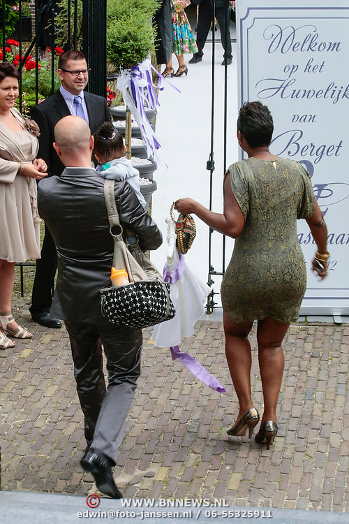 NLD/Amsterdam/20120721 - Huwelijk Berget Lewis en Sebastiaan van Rooijen, Edsilia Rombley en partner Tjeerd Oosterhuis