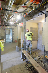 Major Renovation Litchfield Hall WCSU Danbury CT<br /> Connecticut State Project No: CF-RD-275<br /> Architect: OakPark Architects LLC  Contractor: Nosal Builders<br /> James R Anderson Photography New Haven CT photog.com<br /> Date of Photograph: 27 January 2017<br /> Camera View: 17 - Second Floor South Corridor - Vertical Image
