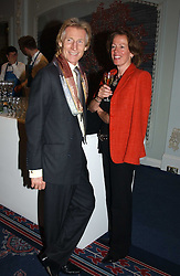 GREG HUTCHINGS and ANN SCOTT at the Tatler Restaurant Awards in association with Champagne Louis Roederer held at the Four Seasons Hotel, Hamilton Place, London W1 on 10th January 2005.<br /><br /><br />NON EXCLUSIVE - WORLD RIGHTS