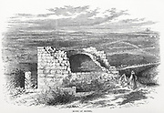 Ruins of Bethel From the book 'Those holy fields : Palestine, illustrated by pen and pencil' by Manning, Samuel, 1822-1881; Religious Tract Society (Great Britain) Published in 1874