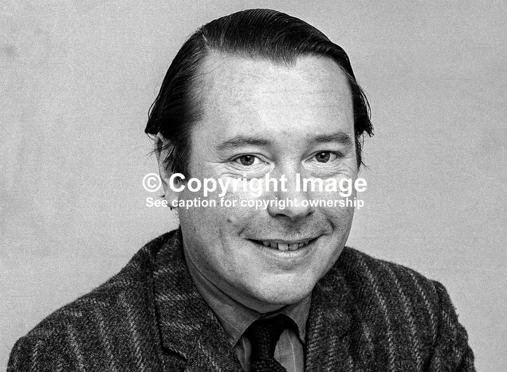 Henry Mulholland, 4th Lord Dunleath, Ballywalter, Co Down, candidate, North Down, N Ireland Alliance Party, 197305000339e.<br /> <br /> Copyright Image from Victor Patterson, Belfast, UK<br /> <br /> t: +44 28 9066 1296 (from Rep of Ireland 048 9066 1296)<br /> m: +44 7802 353836<br /> e: victorpattersonbelfast@gmail.com<br /> <br /> www.images4media.com<br /> <br /> Please see my full Terms and Conditions of Use at https://www.images4media.com/p/terms-conditions - it is IMPORTANT that you familiarise yourself with them.<br /> <br /> Images used online incur an additional cost. This cost should be agreed in writing in advance. Online images must be visibly watermarked i.e. © Victor Patterson or that of the named photographer within the body of the image. The original metadata must not be deleted from images used online.<br /> <br /> This image is only available for the use of the download recipient i.e. television station, newspaper, magazine, book publisher, etc, and must not be passed on to a third party. It is also downloaded on condition that each and every usage is notified within 7 days to victorpattersonbelfast@gmail.com.<br /> <br /> The right of Victor Patterson (or the named photographer) to be identified as the author is asserted in accordance with The Copyright Designs And Patents Act (1988). All moral rights are asserted.
