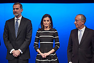 King Felipe VI of Spain, Queen Letizia of Spain, Marcelo Rebelo de Sousa, President of Portugal attends the delivery to King Felipe VI of Spain of the 'World Peace & Liberty Award'  at the closing session of the 'World Law Congress (WLC)' of the 'World Jurist Association (WJA)' at Royal Theater on February 20, 2019 in Madrid, Spain