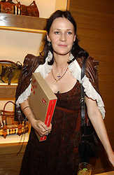 """LUCY FERRY at a party hosted by Christopher Bailey to celebrate the launch of """"The Snippy World of New Yorker Fashion Artist Michael Roberts"""" held at Burberry, 21-23 New Bond Street, London on 20th September 2005.<br /><br />NON EXCLUSIVE - WORLD RIGHTS"""