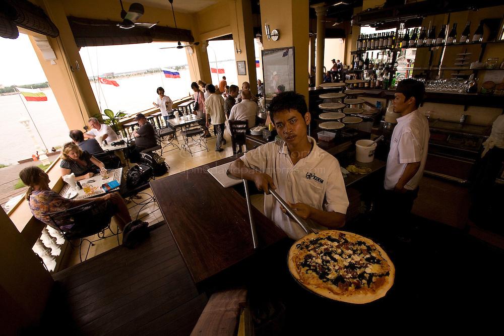 PHNOM PENH, CAMBODIA - OCT 26:  The FCC restaurant and bar October 26, 2007 in Phnom Penh, Cambodia. (Photograph by David Paul Morris)