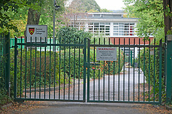 ©Licensed to London News Pictures 11/09/2020  <br /> Sidcup, UK. The back gate. Kemnal Manor Technology College in Sidcup, South East London have confirmed they recorded a positive coronavirus case this week with a year 10 student. credit:Grant Falvey/LNP