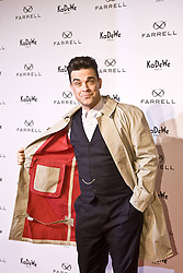 Robbie Williams attends the launch of his Fashion-Label 'Farrell' at KaDeWe,  Berlin, Germany,  February 26, 2013. Photo by Imago / i-Images...UK ONLY<br /> File Photo: Robbie Williams expecting second baby. Robbie Williams has said he will not be joining Take That on any future tour after revealing he is to become a father again. Photo filed Wednesday 30th April 2014.