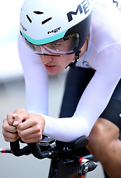 New Zealand's James Oram in action during the Men's Individual Time Trial at Currumbin Beachfront on day six of the 2018 Commonwealth Games in the Gold Coast, Australia.
