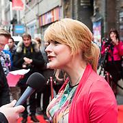 NLD/Amsterdam/20140405 - Filmpremiere Pim & Pom, zwangere Sofie van den Enk