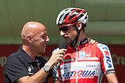 Denis Menchov during the signature control at the last step of the Vuelta de EspaÒa