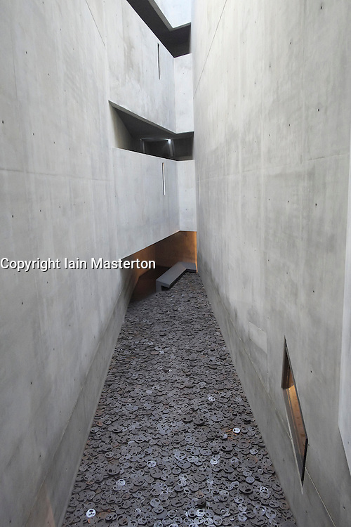 Memory Void room at Jewish Museum in Berlin Germany designed by Daniel Libeskind