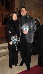 NATASHA KAPLINSKY and JUSTIN BOWER at the Cirque du Soleil's gala premier of Quidam held at the Royal Albert Hall, London on 6th January 2009.