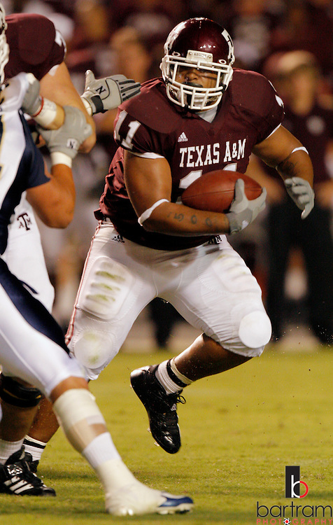Texas A&M running back Jorvorskie Lane runs against Montana State during the third quarter on Saturday, Sept. 1, 2007 in College Station, TX. Texas A&M won the game 38-7.