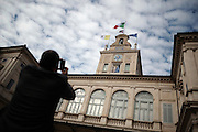 The Vatican and the Italian flag hoisted on the belfry of the Quirinale Palace. Rome, 14 november 2013. Christian Mantuano / OneShot