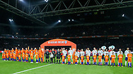 Teams line up during the Friendly match between Netherlands and England at the Amsterdam Arena, Amsterdam, Netherlands on 23 March 2018. Picture by Phil Duncan.